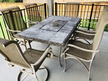 Patio/Outdoor Dining Table and 6 oversized chairs in Fort Hood, Texas