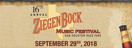 (1-4) Ziegenbock Music Festival Tickets - BELOW COST - Sat, Sept. 29! in Conroe, Texas