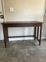 Brown desk in Vacaville, California