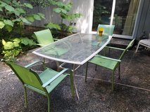 Outdoor furniture with yard decoration in Houston, Texas