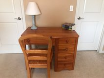 wood desk, hutch & chair - Stanley Furniture in Bolingbrook, Illinois