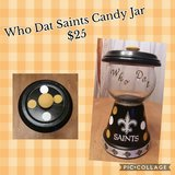 Who Dat Saints Candy Dish in DeRidder, Louisiana