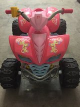 POWER WHEELS KAWASAKI KFX QUAD ATV Battery Operated Ride On Toy Barbie PINK CAR in Elizabethtown, Kentucky