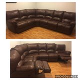 Brown leather sectional in St. Charles, Illinois
