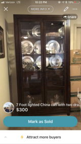 China cabinet.  84 tall 44 wide in Houston, Texas
