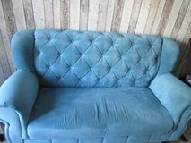 Cool dining room couch in turquoise in Ramstein, Germany