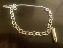 James Avery Charm Bracelet with Silver Bullet Charm in San Antonio, Texas