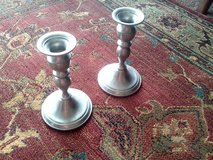 Pair of Pewter Candle Holders in Orland Park, Illinois