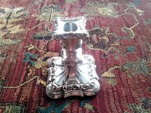 Vintage Silver Plated Polished Candle Holder in Orland Park, Illinois
