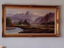 Framed Vintage Oil Painting on Canvas in Orland Park, Illinois