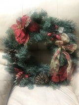 Beautiful Poinsettia Wreath in Alamogordo, New Mexico