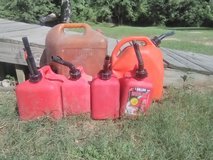 Gas cans in Cleveland, Texas