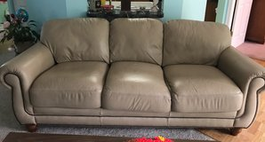 JUST MARKED DOWN !!! Brown leather couch in excellent condition in Shorewood, Illinois