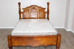 QUEEN Wood bed, Mattress, Headboard, Foatboard INCLUDED in Houston, Texas