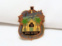 1990 Dodgers MLB Baseball First Game Los Angeles Collectible Lapel Pin Button in Kingwood, Texas