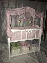 Badger Basket Doll Crib with Canopy and working mobile in Chicago, Illinois