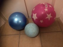 Balls, Fitness, 1 Large Exercise, I Childs soccer ball and 1 kickball or small exercise balls in Okinawa, Japan