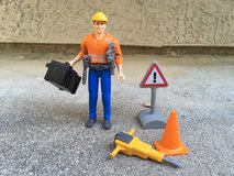 Bruder Construction Worker Set with Toolbelt in Fairfield, California
