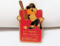 1984 Coca Cola Olympics dodger Stadium Los Angeles Collectible Lapel Pin Button in Kingwood, Texas