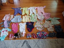 30 piece lot of 0-3 mo girls clothes and shoes in Orland Park, Illinois