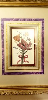 Beautiful Floral Bouquet Set Of Pictures with Frames in Oswego, Illinois