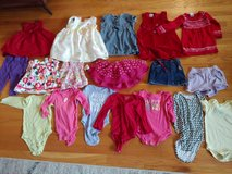 22 piece lot of 12-18 month girls clothing and size 3/4 shoes in Orland Park, Illinois