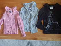 Lot of womens hooded sweaters size medium in Wheaton, Illinois