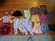 Baby girls size 6-12 month lot of clothes and shoes in Wheaton, Illinois