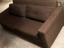 Brown hide-a-bed couch in Schaumburg, Illinois