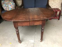 Walnut Table with 2 drop down leafs in Bolingbrook, Illinois