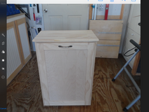 NEW single tip-out wood trash bin in Quantico, Virginia