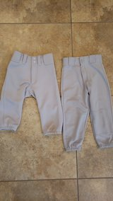 Gray youth small baseball pants in Houston, Texas