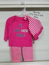 New - 3 pc. Outfit 0/3, 3/6 or 6/9 mths in Fort Bliss, Texas