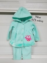 New - 0/3 mths 2 pc. Baby Outfit in Fort Bliss, Texas
