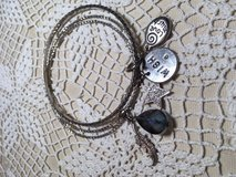 Vintage Bangle Bracelets with Several Charms some Bling Large Stone Interesting in Kingwood, Texas