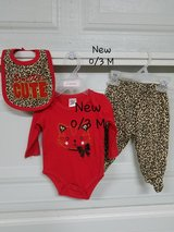 New - 0/3 mths 3 pc. Baby Outfit in Fort Bliss, Texas