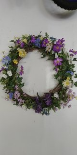 spring wreath in Westmont, Illinois