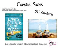 Corona Beach Signs in Spring, Texas