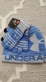 Under Armour hat and glove set Youth in Joliet, Illinois