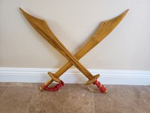 Wooden toy swords in Camp Pendleton, California