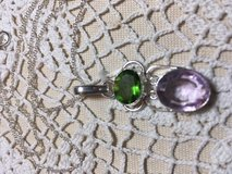 image 0 image 1 image 2 ??zoom Pendant on Sterling Silver Chain Fabulous Amethyst and Peridot St... in Houston, Texas