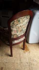 Antique Floral Cherry Wood Chair in Fort Knox, Kentucky