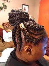 feed in braids with hair asessories in Warner Robins, Georgia