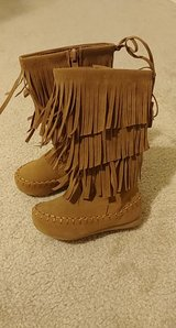 toddler size 6 tan fringe boots new in Spring, Texas
