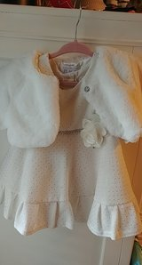 childrens place toddler 18 months white flower girl dress and shrug white in Spring, Texas