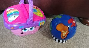 infant toddler vtech picnic basket and world toy in Spring, Texas