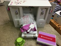 American girl 3 in 1 Murphy bed and accessories in Orland Park, Illinois