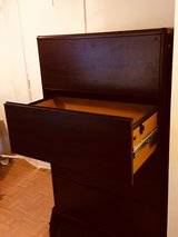 4 drawer wooden file cabinet in Kingwood, Texas