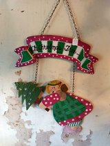 "Christmas metal wall hanging ""Oh Christmas Tree"" retail 15.00 in Baytown, Texas"