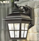 Altair LED Steel Construction in Patina Brush Finish Outdoor Coach Wall Light in Chicago, Illinois